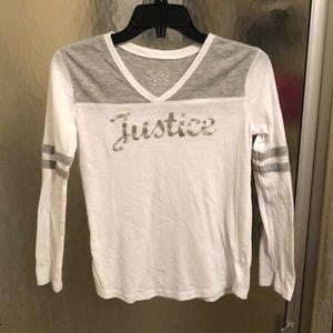 Justice girls long sleeve shirt